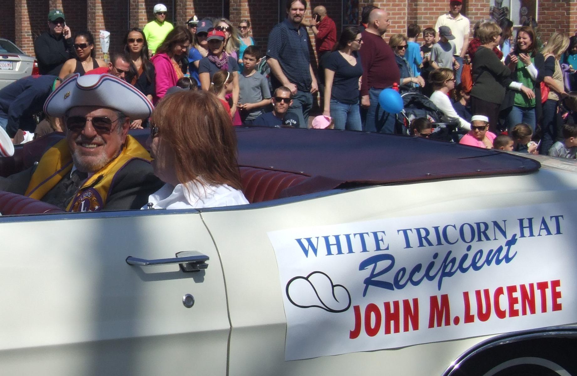 John Lucente - 2014 White Tricorne Hat Recipient